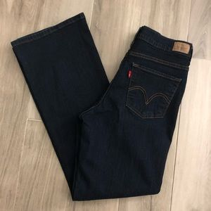Levi's 512 Sz 10M Perfectly Slimming  Dark Jeans